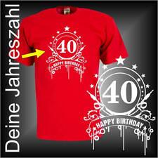 Wunschtext Deine Zahl 30, 40, 50 Happy Birthday Geburtstags Funshirt (FSG051)