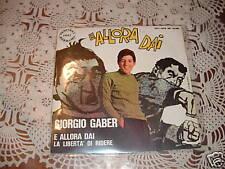 """GIORGIO GABER SANREMO'67 """" E ALLORA DAI - LA LIBERTA' DI RIDERE"""" ITALY"""