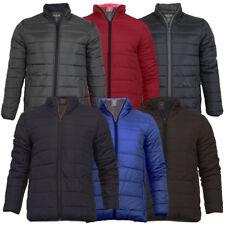 Mens Brave Soul MJKMoritz Plain Quilted Padded Puffer Bubble Winter Jacket