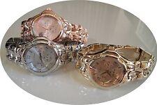 Mens Designer dressy style assorted finish fashion bracelet link watches