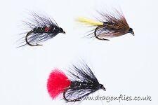 18 Wet Fly Fishing Flies Bibio,Kate McLaren, Zulu by Dragonflies