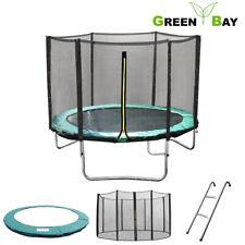 6 8 10 12 14 FT Trampoline Safety Net Enclosure Spring Cover Padding Ladder