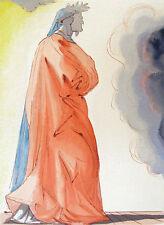 "Salvador Dali The Divine Comedy Paradise #1 ""Dante"" Woodblock Art, Make Offer!"