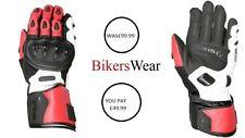 Weise Vortex sports Motorcycle kangaroo leather Red glove Men's was £99.99