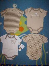 Calvin Klein Infant Baby Boys Bodysuits 4pc Layette Set Brown NWT Retail $42