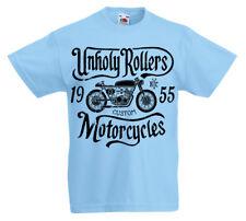 Unholy Rollers T-Shirt Enfants 5 -13 Ans Garçons Motard Rock Cad z1
