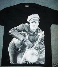 Marlon Brando mans black sepia printed t shirt wild one biker  goth punk S - 3XL