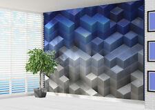 3d block wall Blue tones Wallpaper wall mural wall art (15772034) 3d