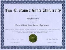 Doctor Rock Paper Scissors Appreciation Novelty Diploma