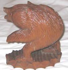 "Wood Carved 8"" Bear Art Sculpture"