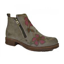 Laura Vita Damen Stiefel Stiefelette Schuh Boots Schuhe Blumen Khaki Used
