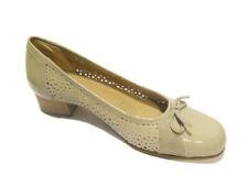 Comoda viola 1156 scarpa fori tacco basso donna