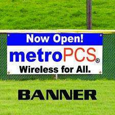 Now Open metro Pcs Wireless For All Advertising Vinyl Banner Sign