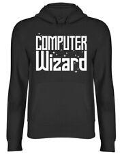 Computer Wizard Mens Womens Ladies Hooded Top Hoodie
