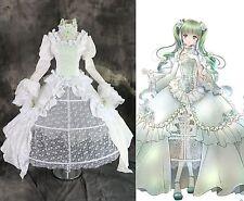 H-3271 Miku Grace Edition weiß grün Rosen Cosplay Kostüm Abend Braut-Kleid