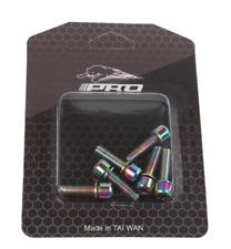 6pk M5*18mm Titanium Plated Screws Bolts For MTB Steering Stem Handlebar Headset