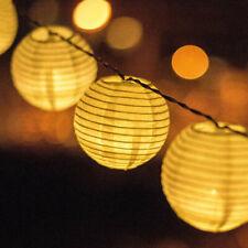 20-60 LED Chinese Lantern Solar Power Fairy String Lights Outdoor Garden Patio