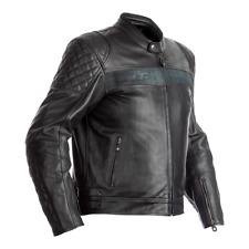 RST 102375 IOM TT Brandish CE Leather Motorcycle Motorbike Jacket - Black