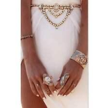 Color Oro O Plata Cristal Bling Rhinestone Cinturón De Cadena De Joya vientre Body
