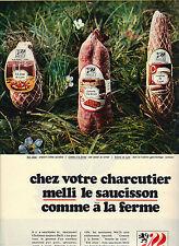 PUBLICITE  1970   MELLI  saucisson charcuterie
