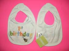 GYMBOREE WHITE BIRTHDAY SHOP 1st Birthday BIB NWT