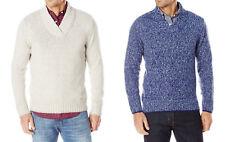 Nautica Mens $118 NWT L/S High Twist Collar Pullover Sweater, L, XL, Gray, Blue