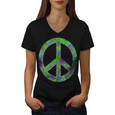 Hippie Peace Forever Women V-Neck T-shirt NEW | Wellcoda