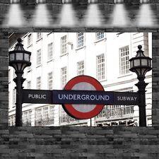 XXL London Underground Eingang auf Leinwand Keilrahmen England U-Bahn