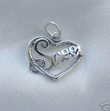 SWEET  HEART LOVE CHARM PENDANT 925 STERLING SILVER