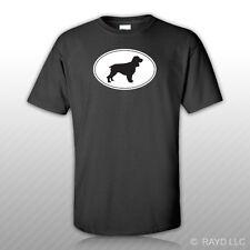 Field Spaniel Euro Oval T-Shirt Tee Shirt Free Sticker dog canine pet