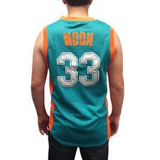 Jackie Moon #33 Flint Tropics Green Basketball Jersey Semi Pro Costume Movie