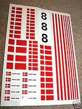RC Danish Flag Stickers Decals Mardave Kyosho Tamiya