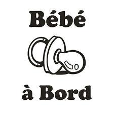 * 1 Sticker Bébé à Bord * Modèle Tétine *