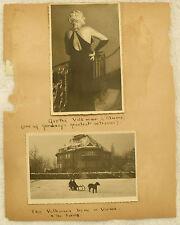 ANTIQUE 1920's (2) PHOTO POSTCARD GERMANY FAMOUS ACTRESS GRETHE VOLKMAR + PHOTO