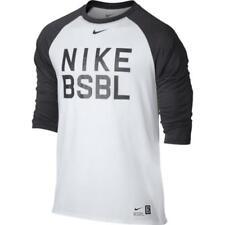 NWT Nike Men's Legend 3/4 Sleeve Raglan Baseball T‑Shirt 813049-100 White