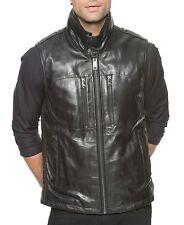 Andrew Marc New York Black Leather Liberty Moto Vest Jacket New $565