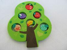 SET 7 NOVELTY PUZZLE TREE & FRUITS APPLE BANANA JAPANESE STYLE RUBBERS ERASERS