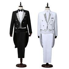 Mens 2 Piece Suit Tuxedo Tailcoat Jacket Trousers Pants Dinner Prom Wedding