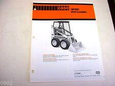Case 1816C Uni-Loader Skid Steer Brochure