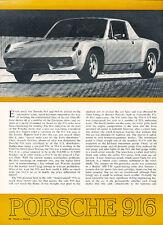 1972 Porsche 916 - Classic Article D53