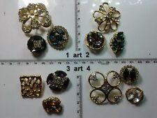 1 lotto bottoni gioiello smalti strass pietre vetro buttons boutons vintage g20