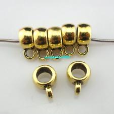 40/80/700pcs Tibetan silver/Bronze Spacer Beads Connectors Bail Charms Pendants