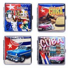 """Zigarettenetui """" CUBA"""" Etui für 20 Zigaretten-Etui Zigarettenbox Champ Kuba"""