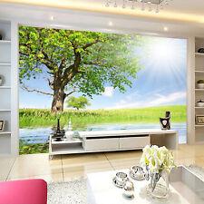 3D Sonnenlicht Baum 4 Fototapeten Wandbild Fototapete Bild Tapete Familie Kinder