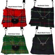 Ladies Shoulder Bags Scottish Kilt Tartan Bag Purse Handmade 4 Tartans New AAR