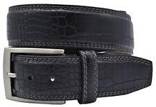 Greg Norman Crocodile Print Leather Golf Belt or Dress Belt - Black - New w/Tags