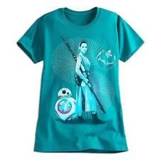 Disney Store Star Wars Force Awakens Rey & BB-8 Womens T Shirt Tee Size M L XL