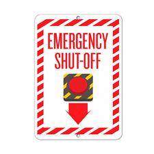 Emergency Shut Off Swith Clipart Hazard Sign Emergency Aluminum METAL Sign
