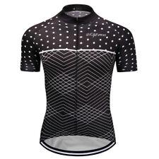 New Mens Bicycle Short Sleeve Cycling Jerseys Outdoor Sports Bike MTB Polka Dot