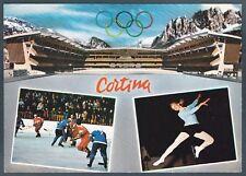 BELLUNO CORTINA 85 STADIO del GHIACCIO SPORT INVERNALI Cartolina viaggiata 1973
